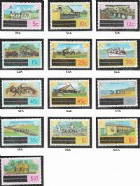 St Kitts SG29A-41A 1980 Definitive set 13v complete unmounted mint